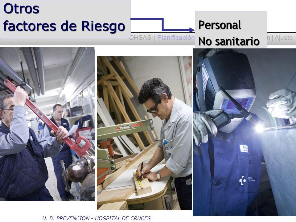 OHSAS | Planificación | Despliegue | Evaluación | Ajuste Otros factores de Riesgo U. B. PREVENCION - HOSPITAL DE CRUCES Personal No sanitario
