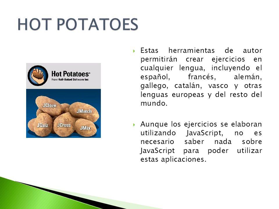 Estas herramientas de autor permitirán crear ejercicios en cualquier lengua, incluyendo el español, francés, alemán, gallego, catalán, vasco y otras l