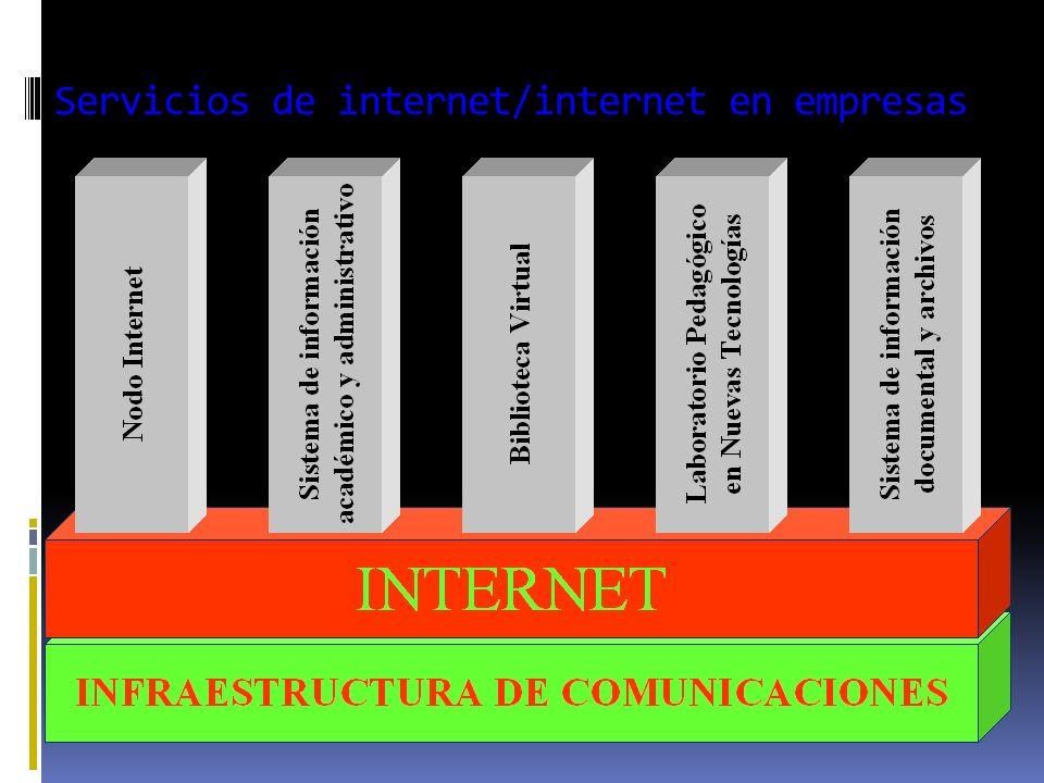 Servicios de internet/internet en empresas
