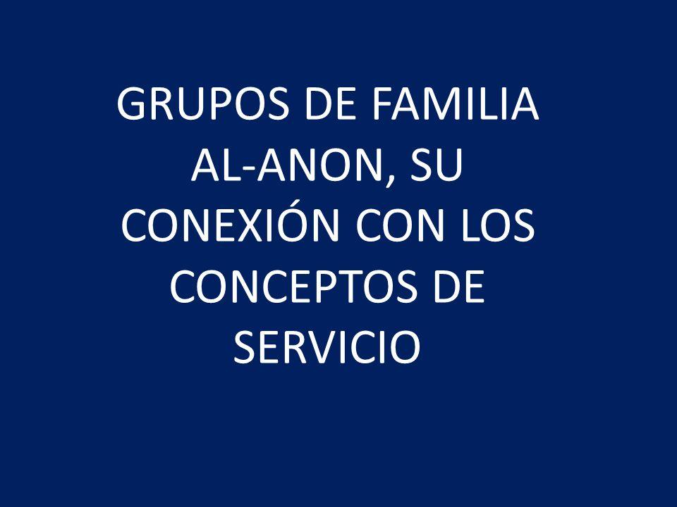 GRUPOS DE FAMILIA AL-ANON La responsabilidad y autoridad fundamental de los servicios mundiales de Al-Anon corresponde a los grupos de Al-Anon PRIMER CONCEPTO