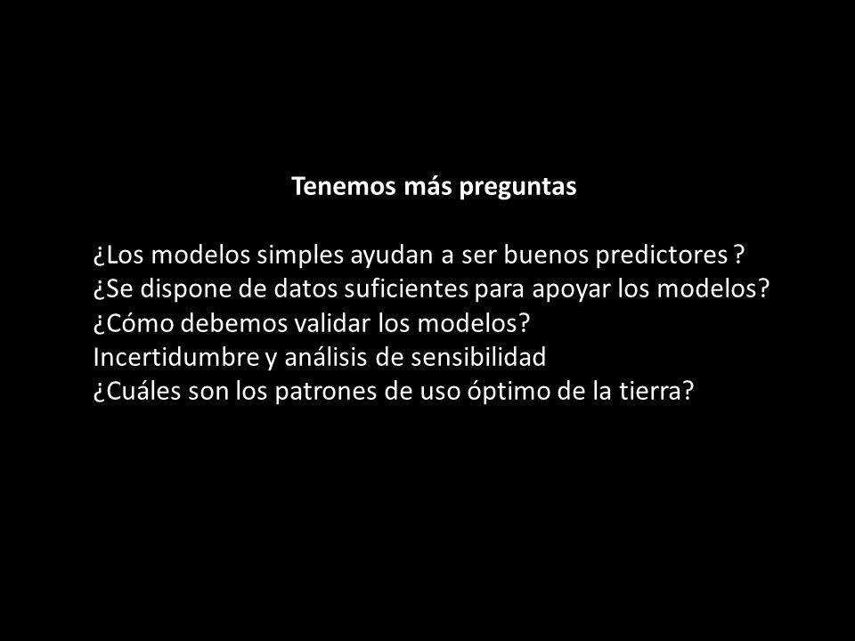 Tenemos más preguntas ¿Los modelos simples ayudan a ser buenos predictores ? ¿Se dispone de datos suficientes para apoyar los modelos? ¿Cómo debemos v