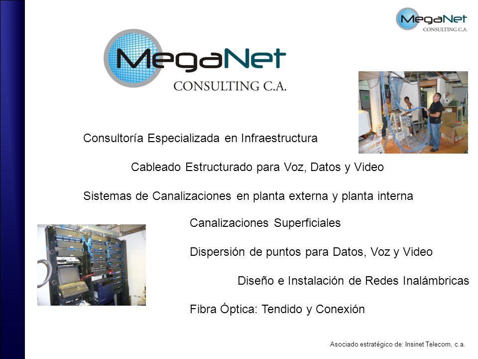 Consultoría Especializada en Infraestructura Cableado Estructurado para Voz, Datos y Video Sistemas de Canalizaciones en planta externa y planta inter