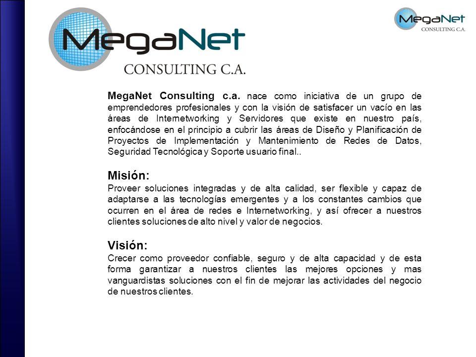 MegaNet Consulting c.a. nace como iniciativa de un grupo de emprendedores profesionales y con la visión de satisfacer un vacío en las áreas de Interne
