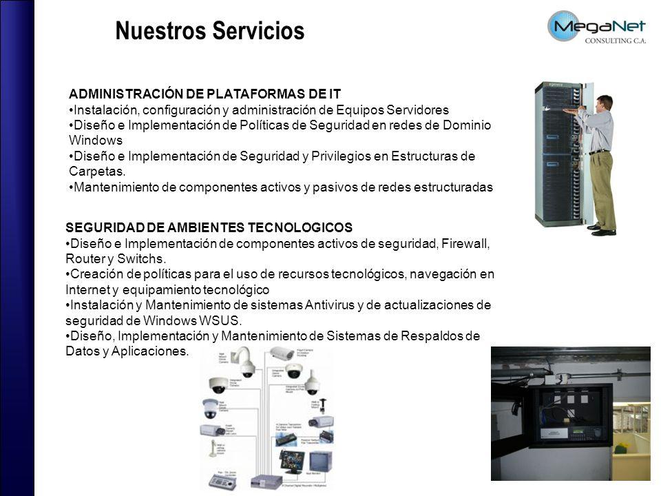 ADMINISTRACIÓN DE PLATAFORMAS DE IT Instalación, configuración y administración de Equipos Servidores Diseño e Implementación de Políticas de Segurida