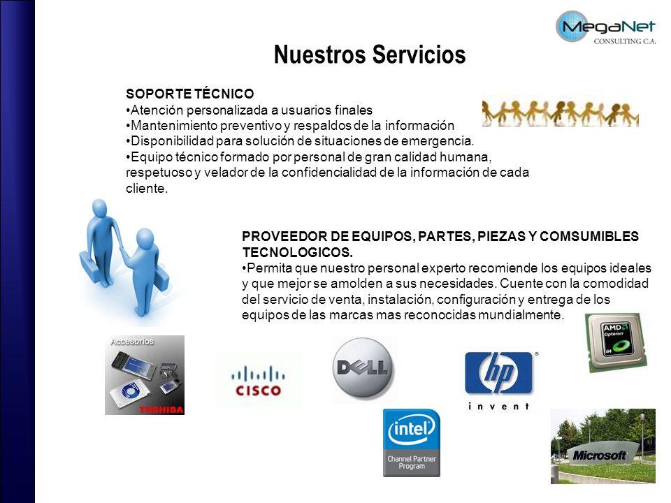 SOPORTE TÉCNICO Atención personalizada a usuarios finales Mantenimiento preventivo y respaldos de la información Disponibilidad para solución de situa