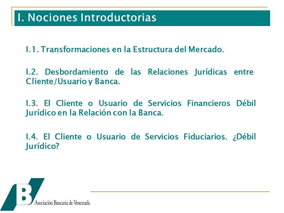 I.1. Transformaciones en la Estructura del Mercado.