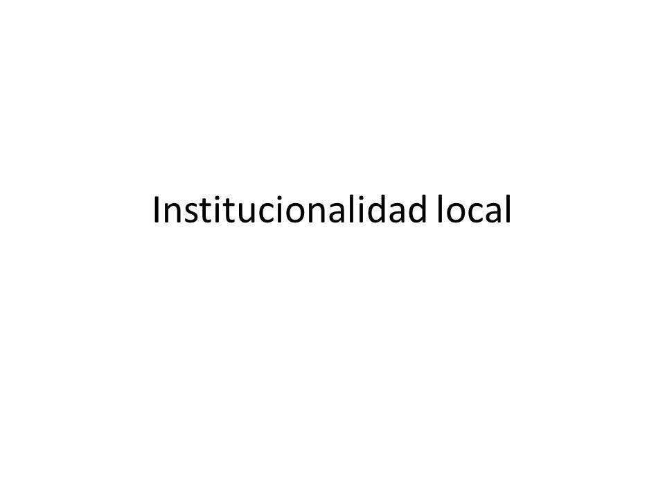 Institucionalidad local