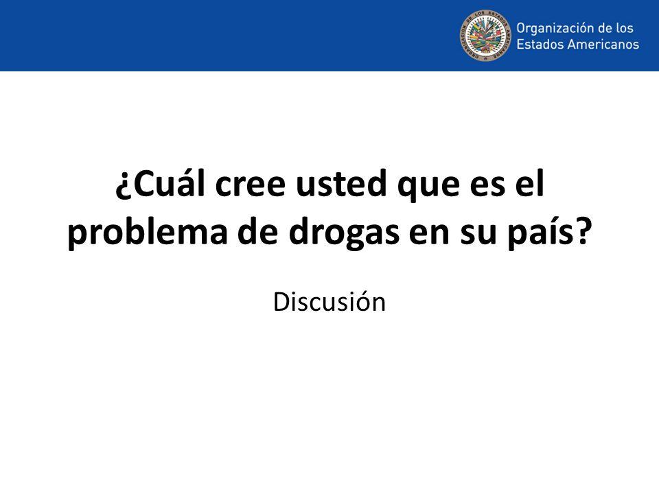 ¿Cuál cree usted que es el problema de drogas en su país Discusión