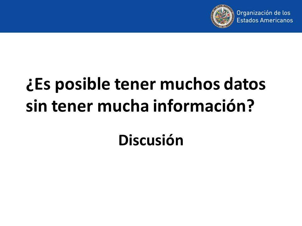 ¿Es posible tener muchos datos sin tener mucha información Discusión