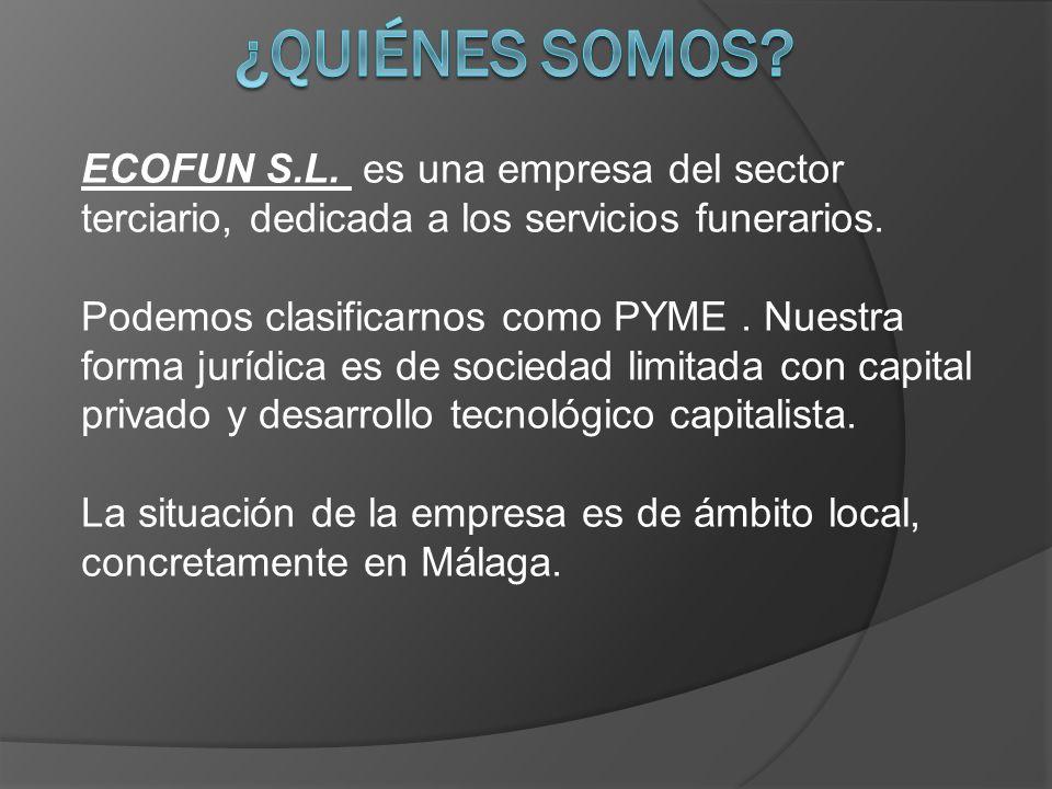 ECOFUN S.L.es una empresa del sector terciario, dedicada a los servicios funerarios.