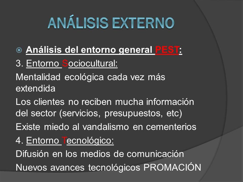 Análisis del entorno general PEST: 3.