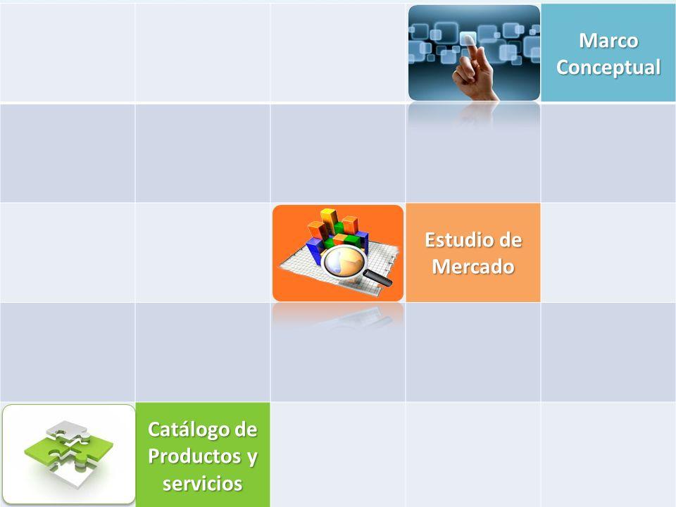 Marco Conceptual Estudio de Mercado Catálogo de Productos y servicios