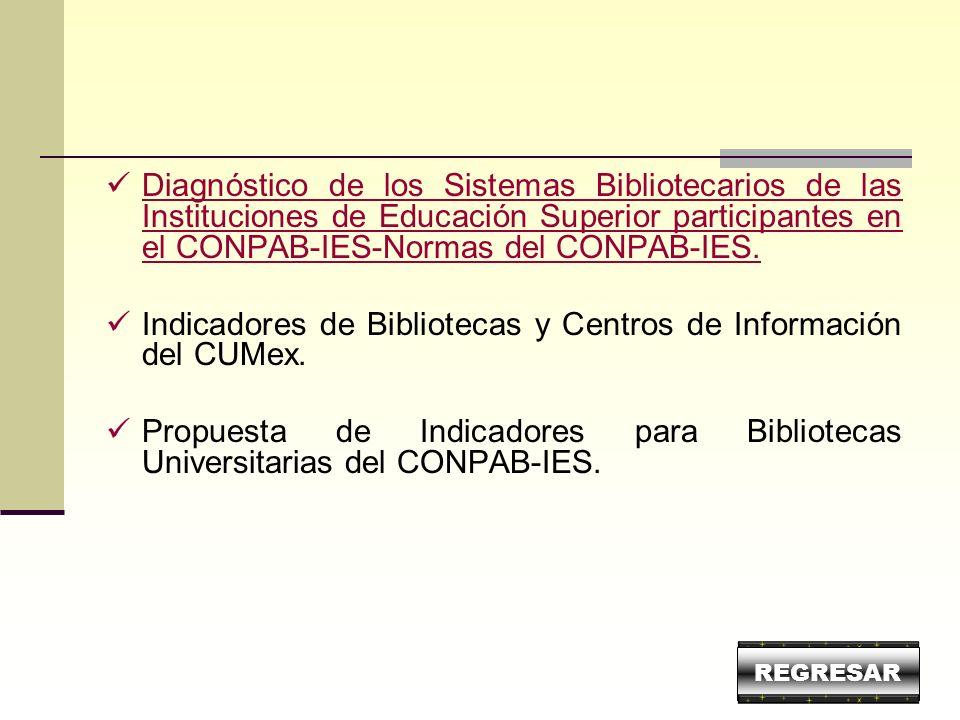 Diagnóstico de los Sistemas Bibliotecarios de las Instituciones de Educación Superior participantes en el CONPAB-IES-Normas del CONPAB-IES. Diagnóstic