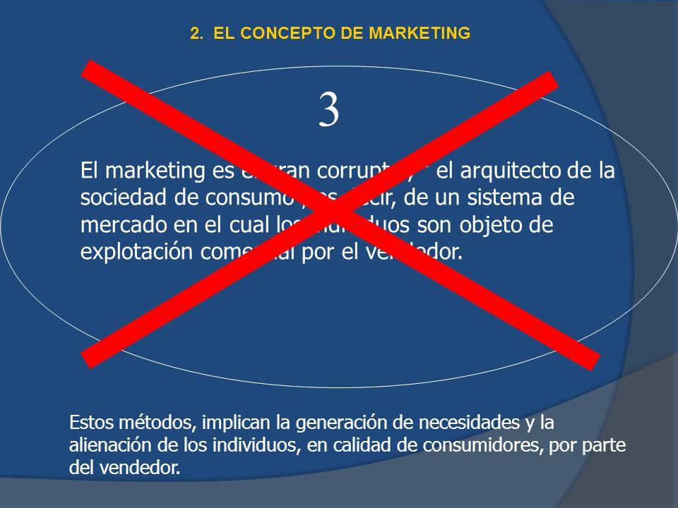 El marketing es el gran corruptor, el arquitecto de la sociedad de consumo, es decir, de un sistema de mercado en el cual los individuos son objeto de