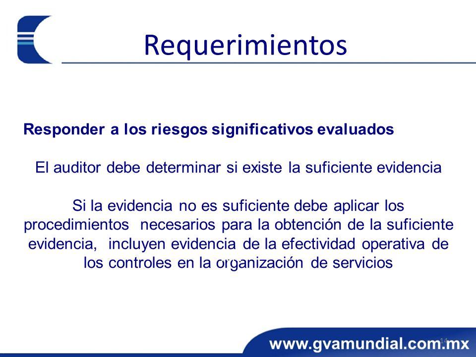 Responder a los riesgos significativos evaluados El auditor debe determinar si existe la suficiente evidencia Si la evidencia no es suficiente debe ap