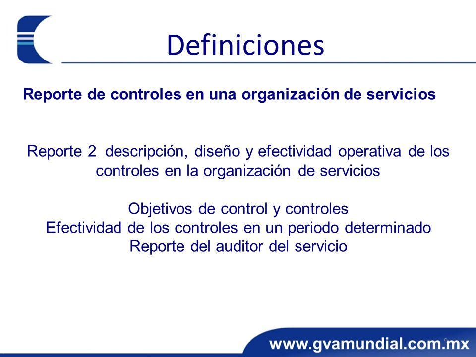 Reporte de controles en una organización de servicios Reporte 2 descripción, diseño y efectividad operativa de los controles en la organización de ser