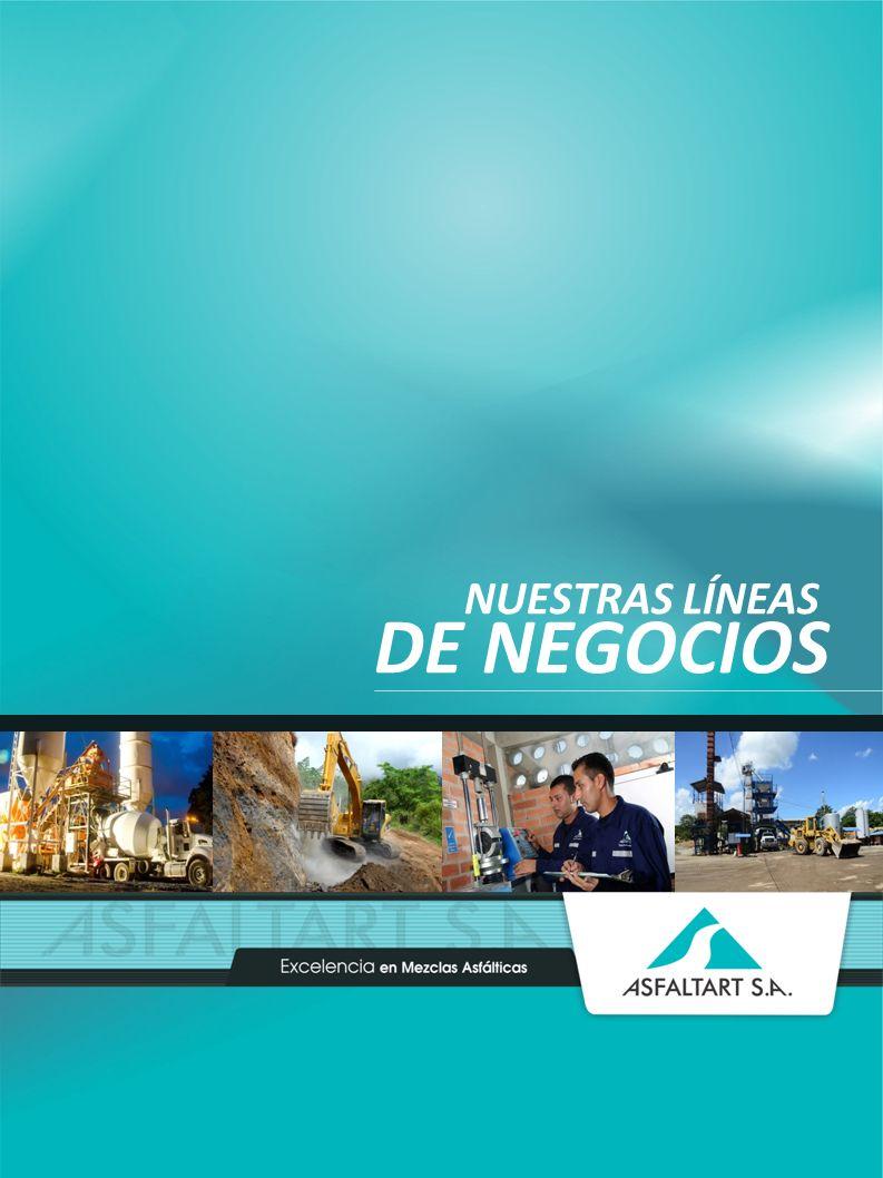 13 www.asfaltart.com PORTAFOLIO DE SERVICIOS NUESTRAS LÍNEAS DE NEGOCIOS