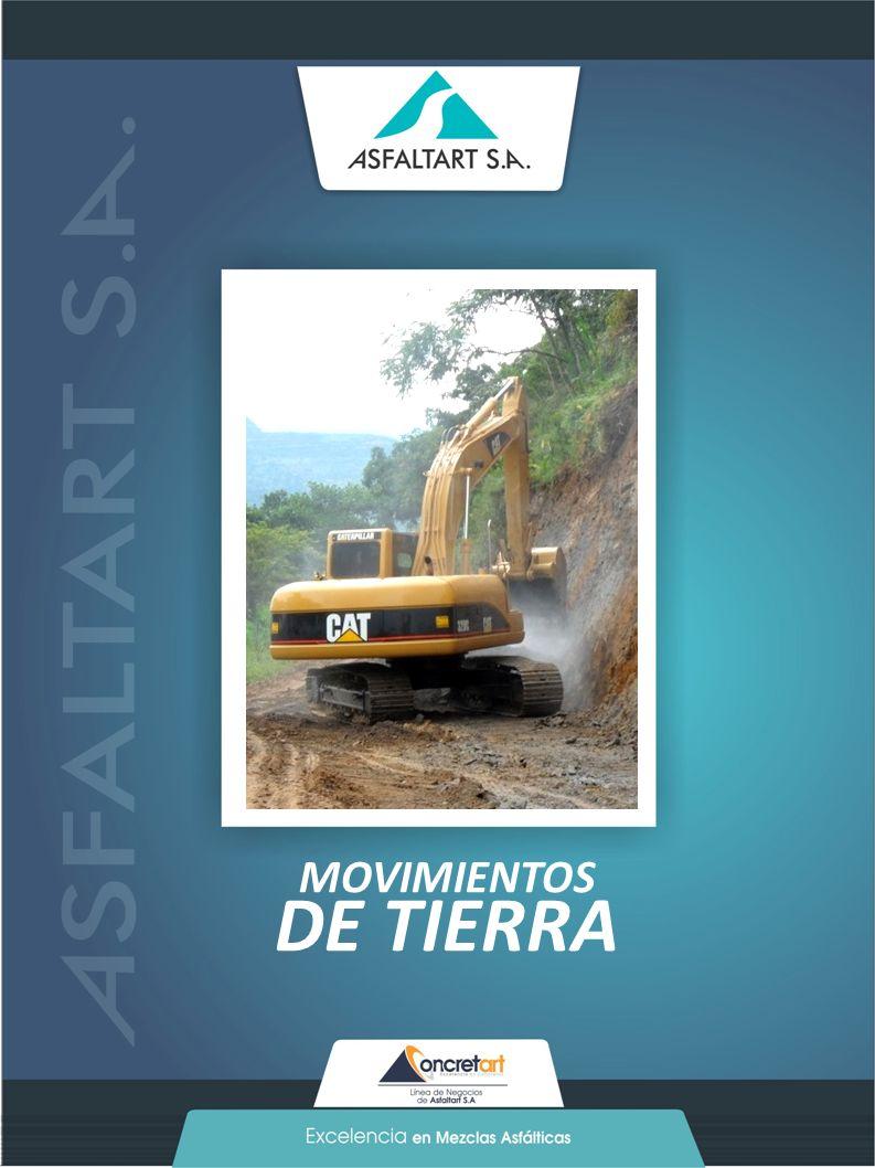 20 www.asfaltart.com PORTAFOLIO DE SERVICIOS MOVIMIENTOS DE TIERRA
