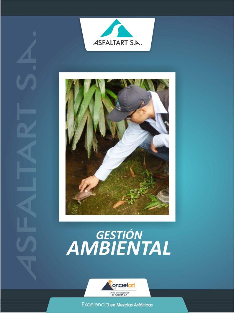 33 www.asfaltart.com PORTAFOLIO DE SERVICIOS GESTIÓN AMBIENTAL