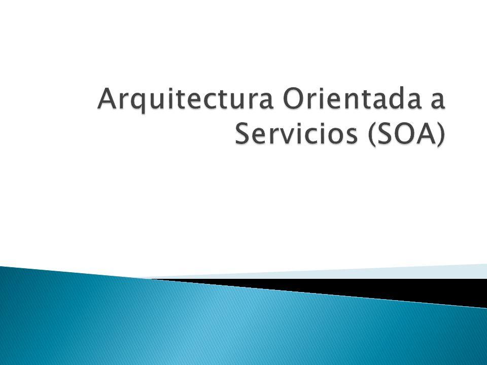 Una arquitectura orientada a servicios es esencialmente un conjunto de servicios Un servicio es una función que está bien definida, en sí misma, y no depende del contexto o el estado de otros servicios.