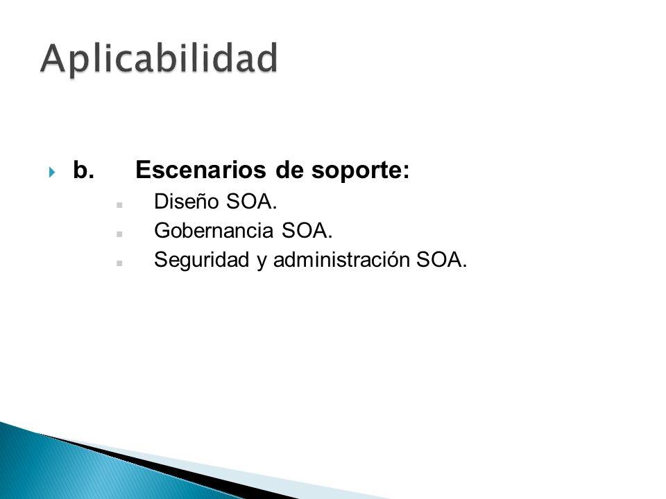 Aunque el SOA aporta grandes beneficios, no implica que sea útil para todas las empresas que deseen aplicar SOA en su arquitectura.
