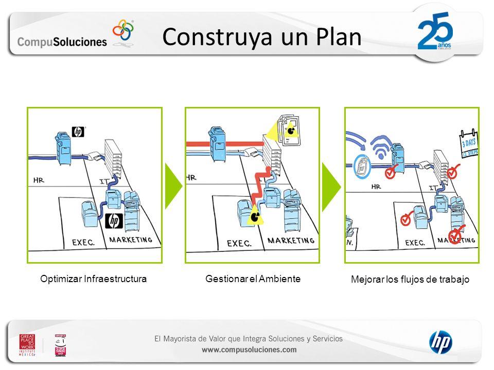 Construya un Plan Optimizar Infraestructura Gestionar el Ambiente Mejorar los flujos de trabajo