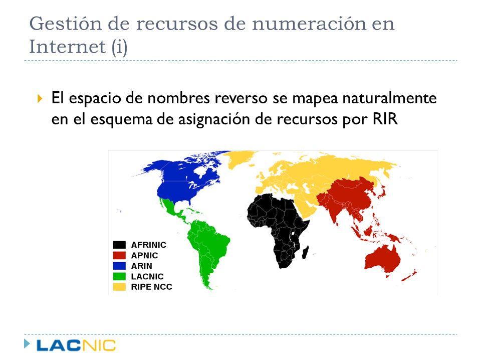 Resolución reversa en LACNIC IANA 0/8 LACNIC 179/8 UY-ORG-1 179.1.0.0/16 UY-ORG-2 179.1.218.0/24 RIPE in-addr.arpa 179.in-addr.arpa 1.179.in-addr.arpa 218.1.179.in-addr.arpa