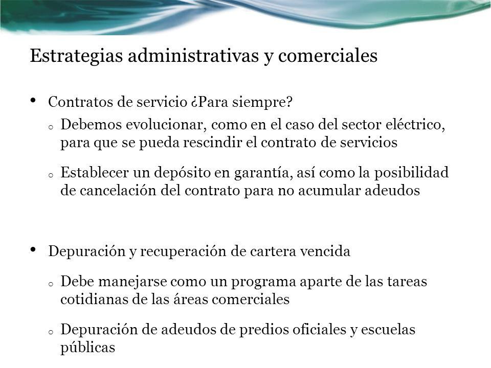 Estrategias administrativas y comerciales Contratos de servicio ¿Para siempre? o Debemos evolucionar, como en el caso del sector eléctrico, para que s