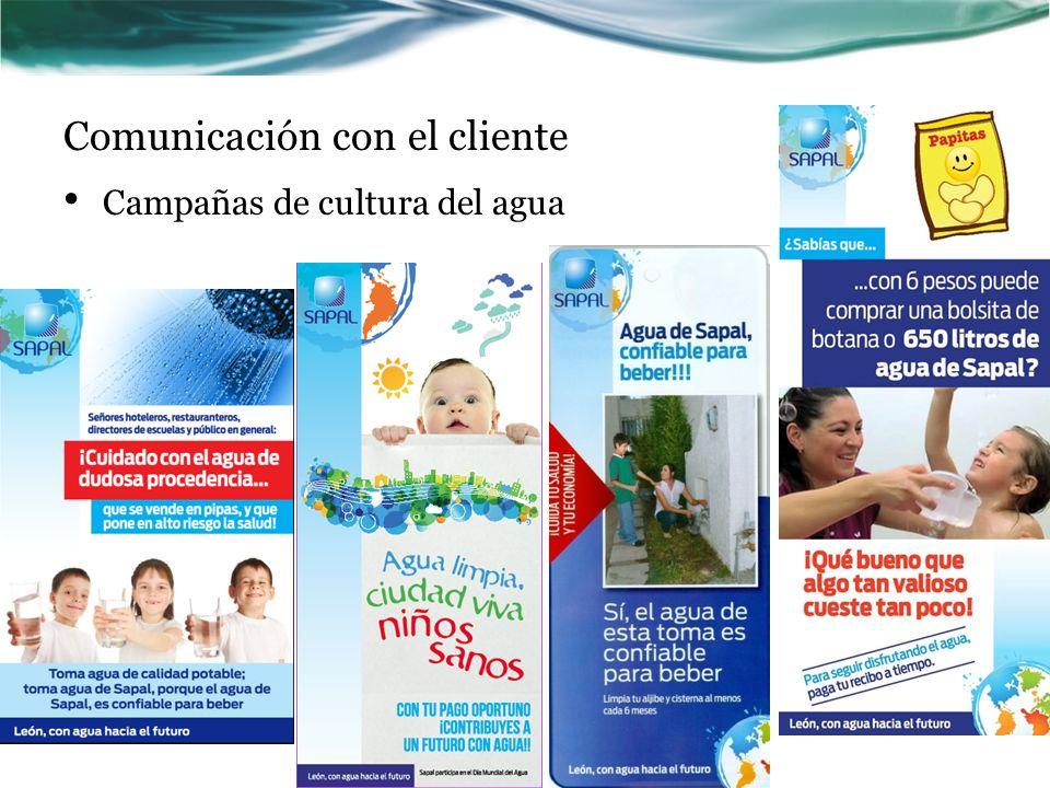 Comunicación con el cliente Campañas de cultura del agua
