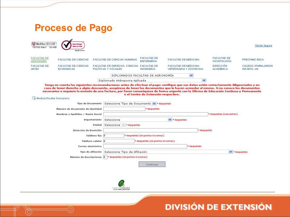 Proceso de Pago