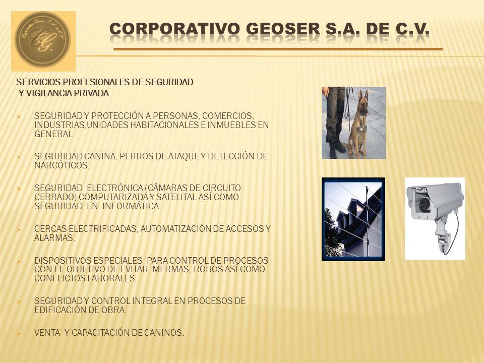 SERVICIOS PROFESIONALES DE SEGURIDAD Y VIGILANCIA PRIVADA. SEGURIDAD Y PROTECCIÓN A PERSONAS, COMERCIOS, INDUSTRIAS,UNIDADES HABITACIONALES E INMUEBLE