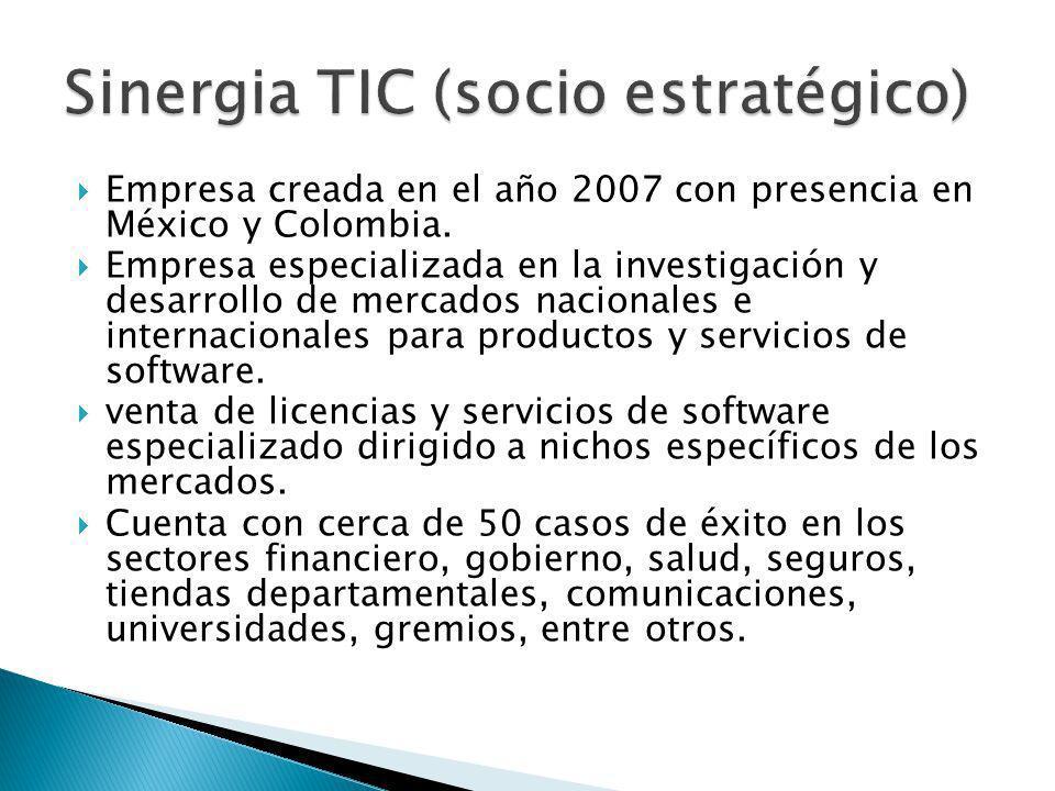 Empresa creada en el año 2007 con presencia en México y Colombia. Empresa especializada en la investigación y desarrollo de mercados nacionales e inte