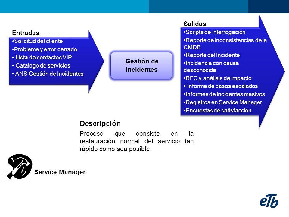 Descripción Proceso que gestiona los cambios en el área TI, desde su petición y aprobación, hasta su implantación y cierre.