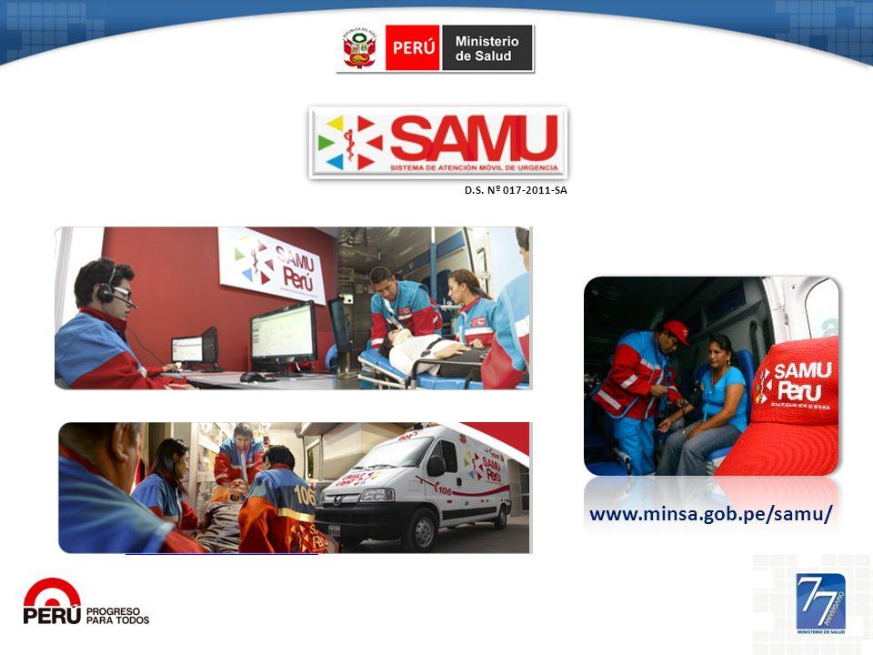 http://www.minsa.gob.pe/samu/ D.S. Nº 017-2011-SA www.minsa.gob.pe/samu/