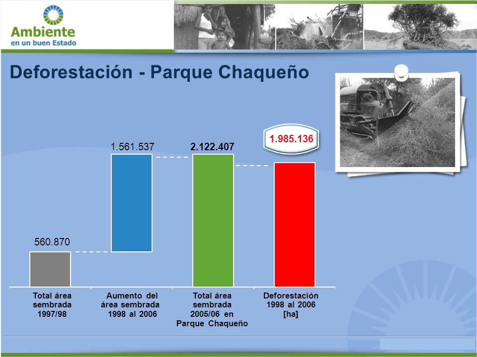 USD 12/tCO2 Valor promedio de carbono: Servicios Ambientales - Secuestro de Carbono Campaña 2007/ 2008 217 tCO2 Carbono liberado por hectárea por deforestación Total pasivo ambiental USD 2.604/ha no deforestada Reducir las emisiones evitando la deforestación: