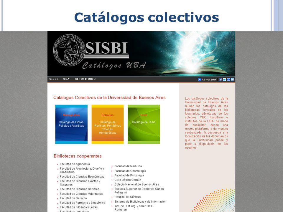 Catálogos colectivos