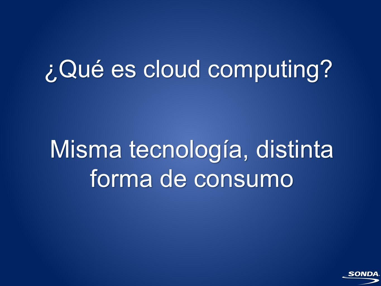 ¿Qué es cloud computing? Misma tecnología, distinta forma de consumo
