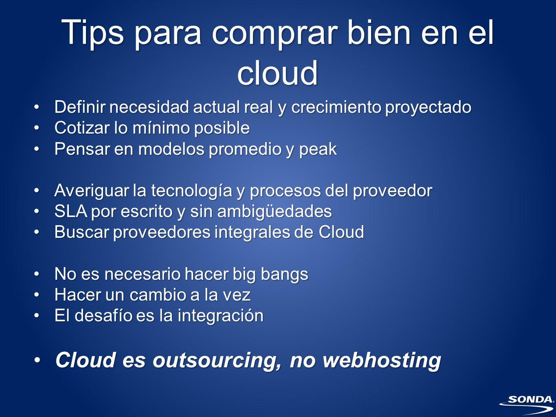 Cloud Computing en Chile Sergio Rademacher Gerente Regional Cloud Computing sergio.rademacher@sonda.com