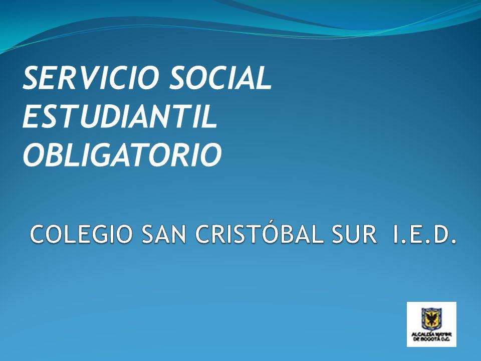 SERVICIO SOCIAL ESTUDIANTIL OBLIGATORIO