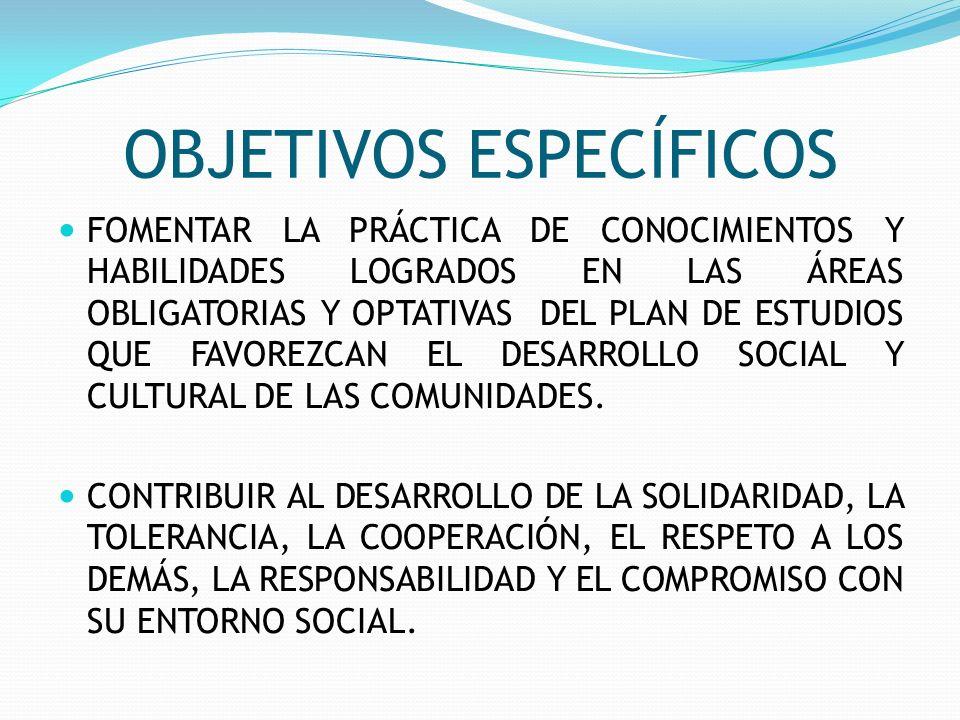 OBJETIVOS ESPECÍFICOS PROMOVER LA CREACIÓN DE ESCENARIOS Y FORMAS DE COMUNICACIÓN QUE ESTIMULEN LA PARTICIPACIÓN DE LOS MIEMBROS DE LA COMUNIDAD EDUCATIVA.