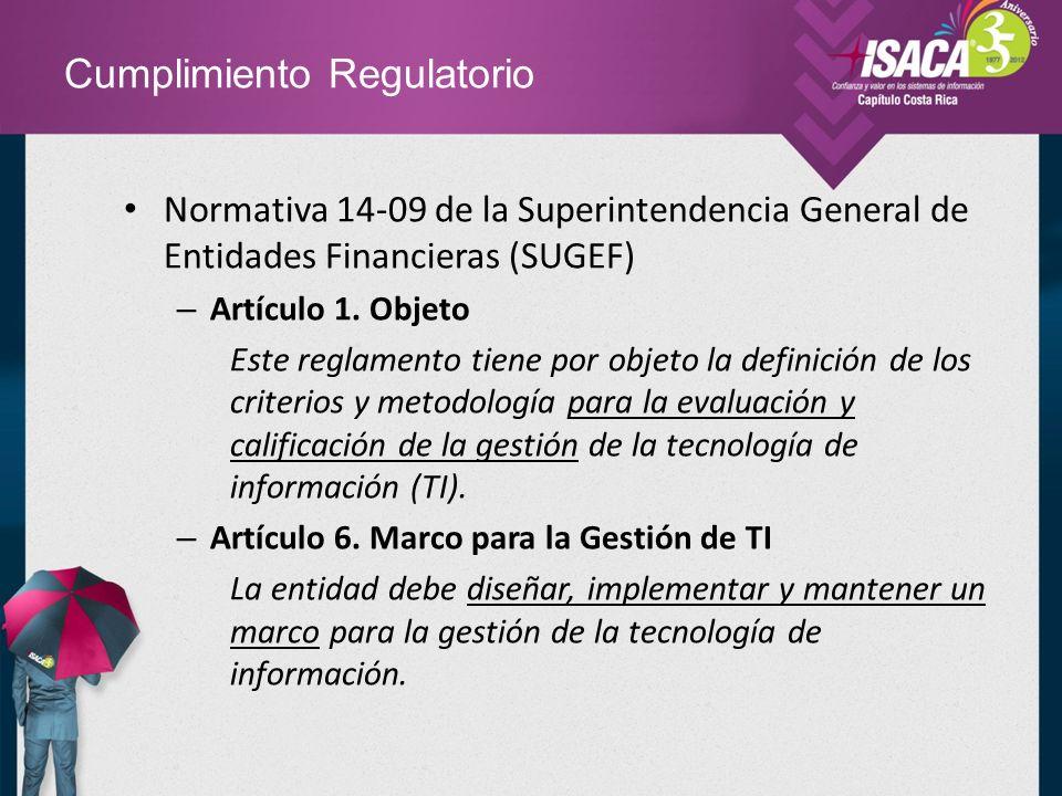 Cumplimiento Regulatorio Normativa 14-09 de la Superintendencia General de Entidades Financieras (SUGEF) – Artículo 9.