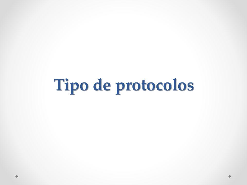 Tipo de protocolos