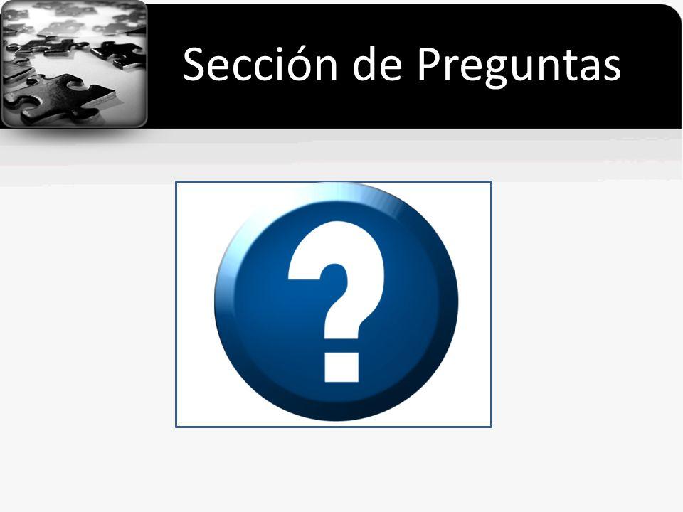 Sección de Preguntas