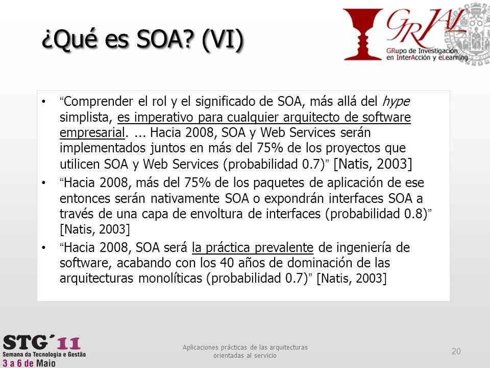 Comprender el rol y el significado de SOA, más allá del hype simplista, es imperativo para cualquier arquitecto de software empresarial.... Hacia 2008
