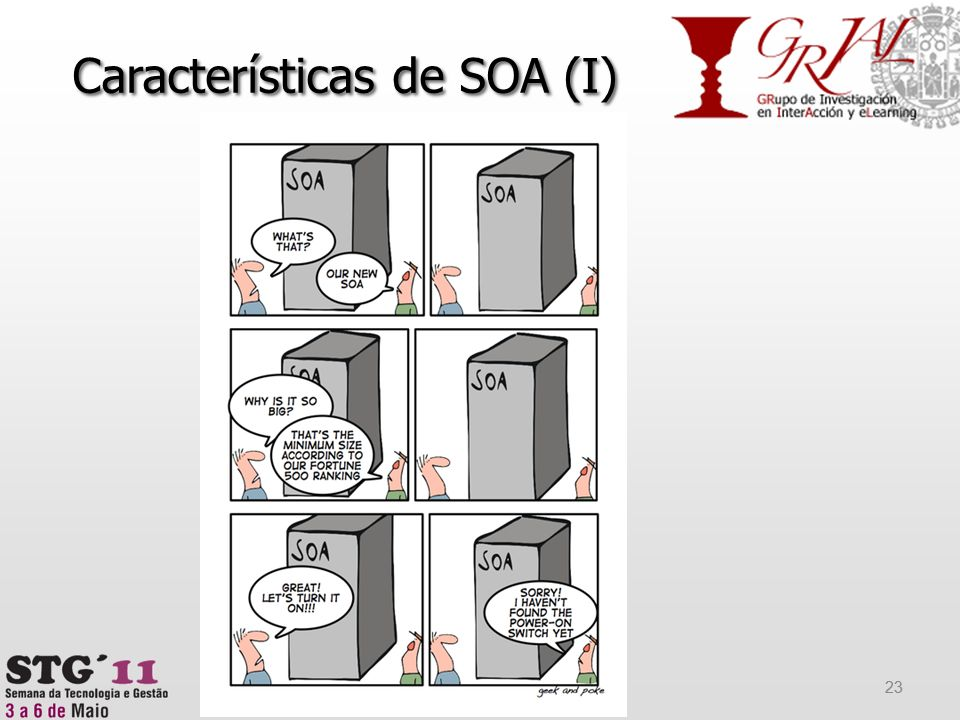 Características de SOA (I) 23