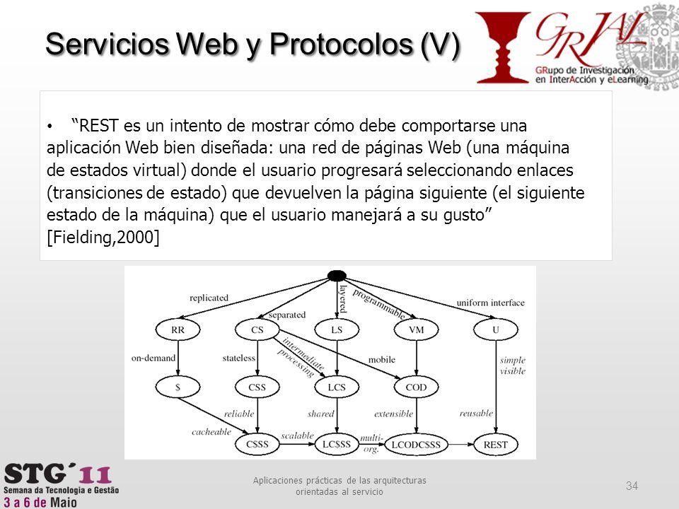 REST es un intento de mostrar cómo debe comportarse una aplicación Web bien diseñada: una red de páginas Web (una máquina de estados virtual) donde el