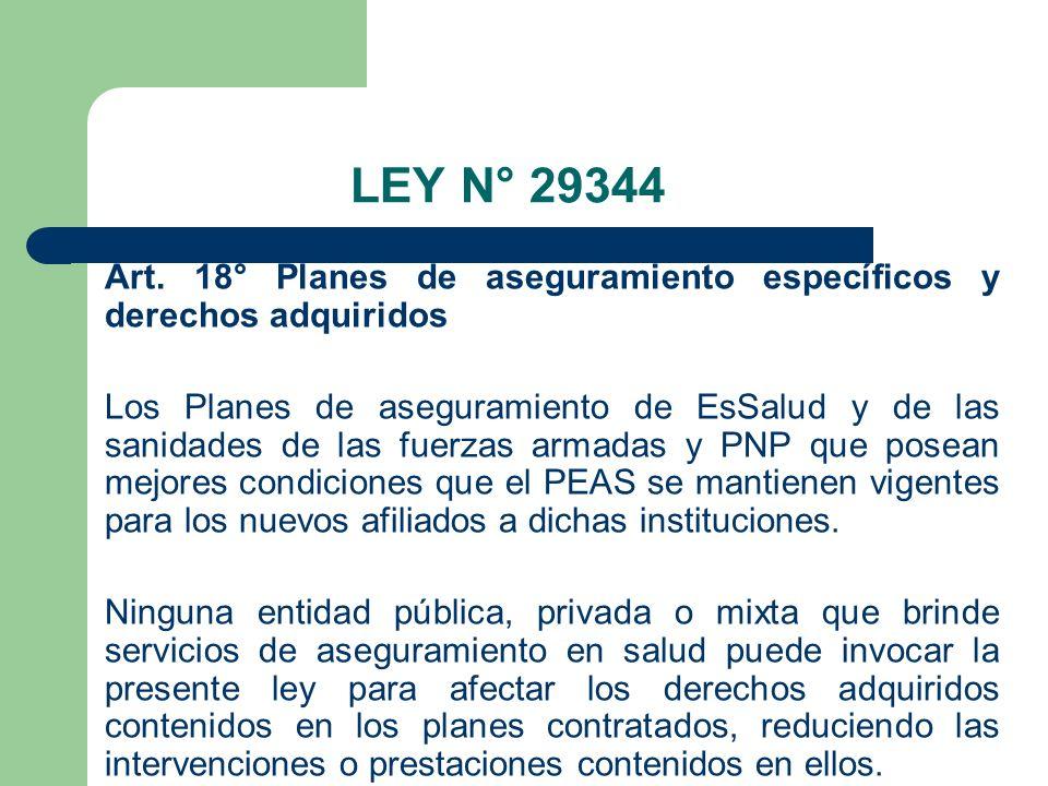 LEY N° 29344 Art.