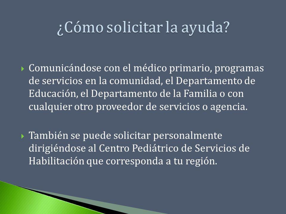 Comunicándose con el médico primario, programas de servicios en la comunidad, el Departamento de Educación, el Departamento de la Familia o con cualqu