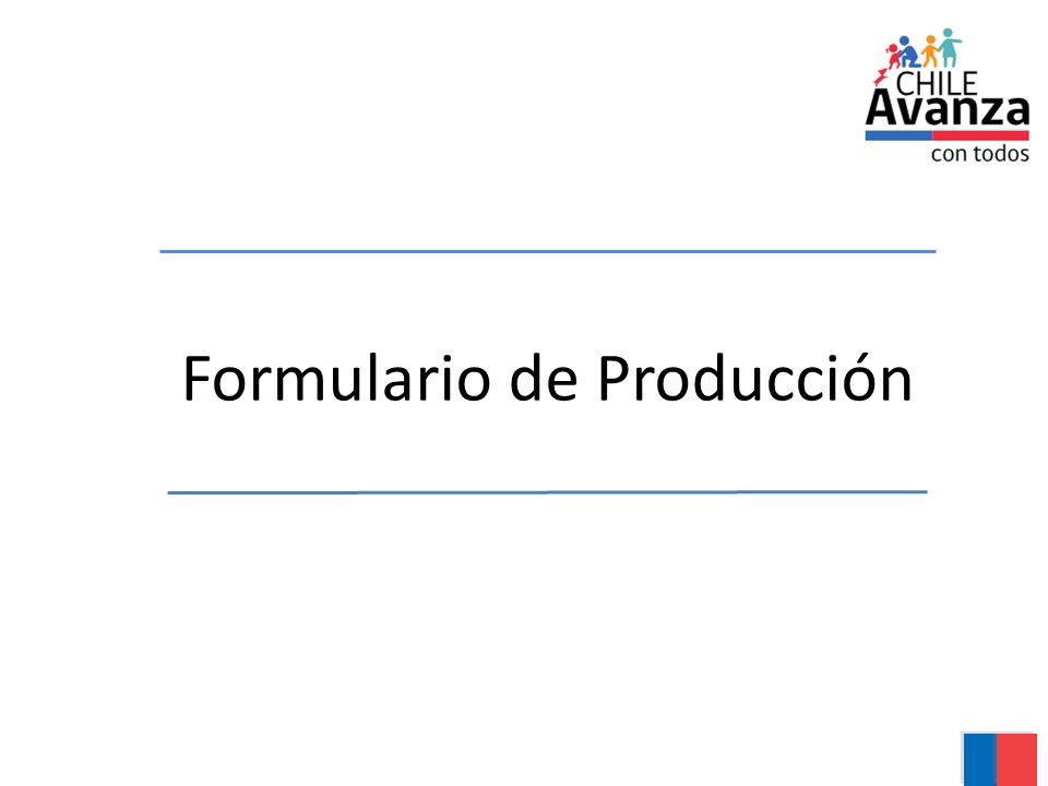 Formulario de Producción