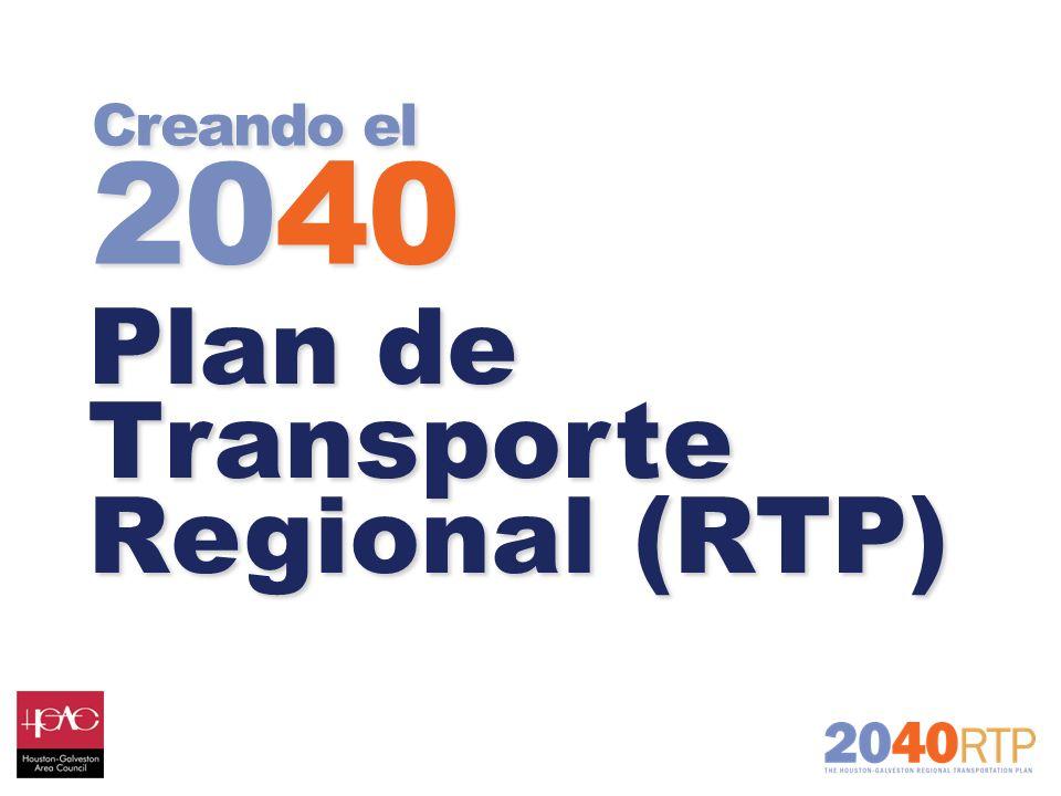 Creando el 2040 Plan de Transporte Regional (RTP) Plan de Transporte Regional (RTP)